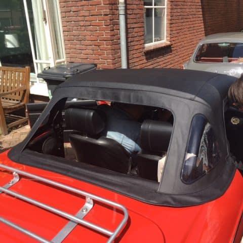 Vinyl Cabrioletdak Mgb Mgc Met Luxe Zip Out Window Oem