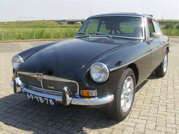 MG MGB GT v8 Factory Black (Verkocht) - MG Parts Benelux